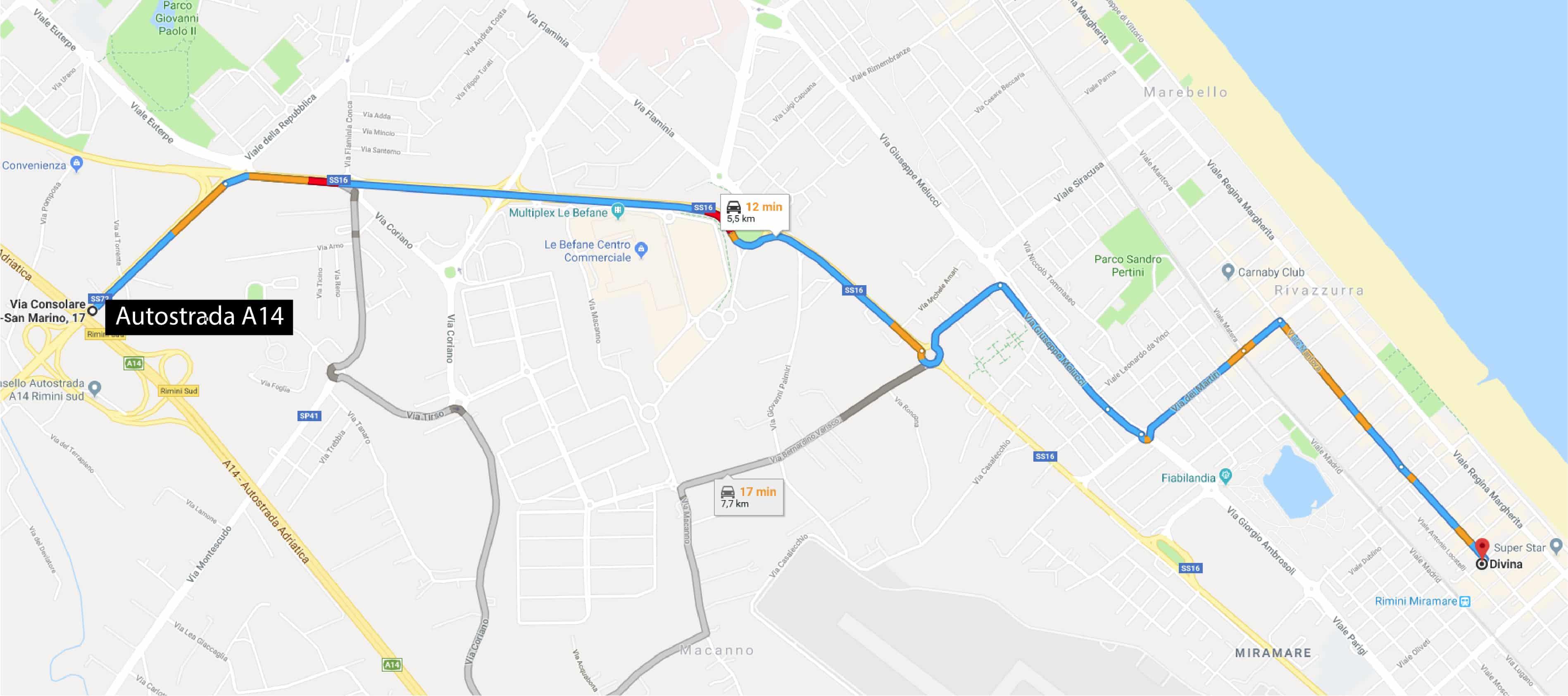 Residence a Rimini - Residence Divina mappa